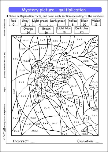 5 Images of Multiplication Coloring Pages Printable