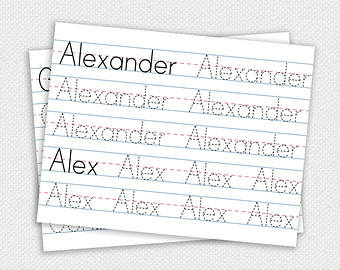 8 Best Images of Custom Name Tracing Printable - Free Printable ...