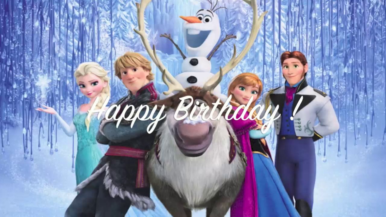5 Images of Printable Frozen Happy Birthday Card