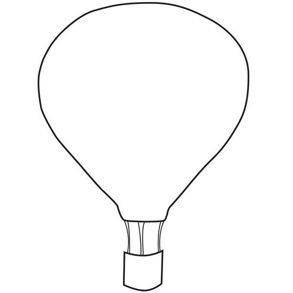 4 Images of 3D Hot Air Balloon Free Printable Template