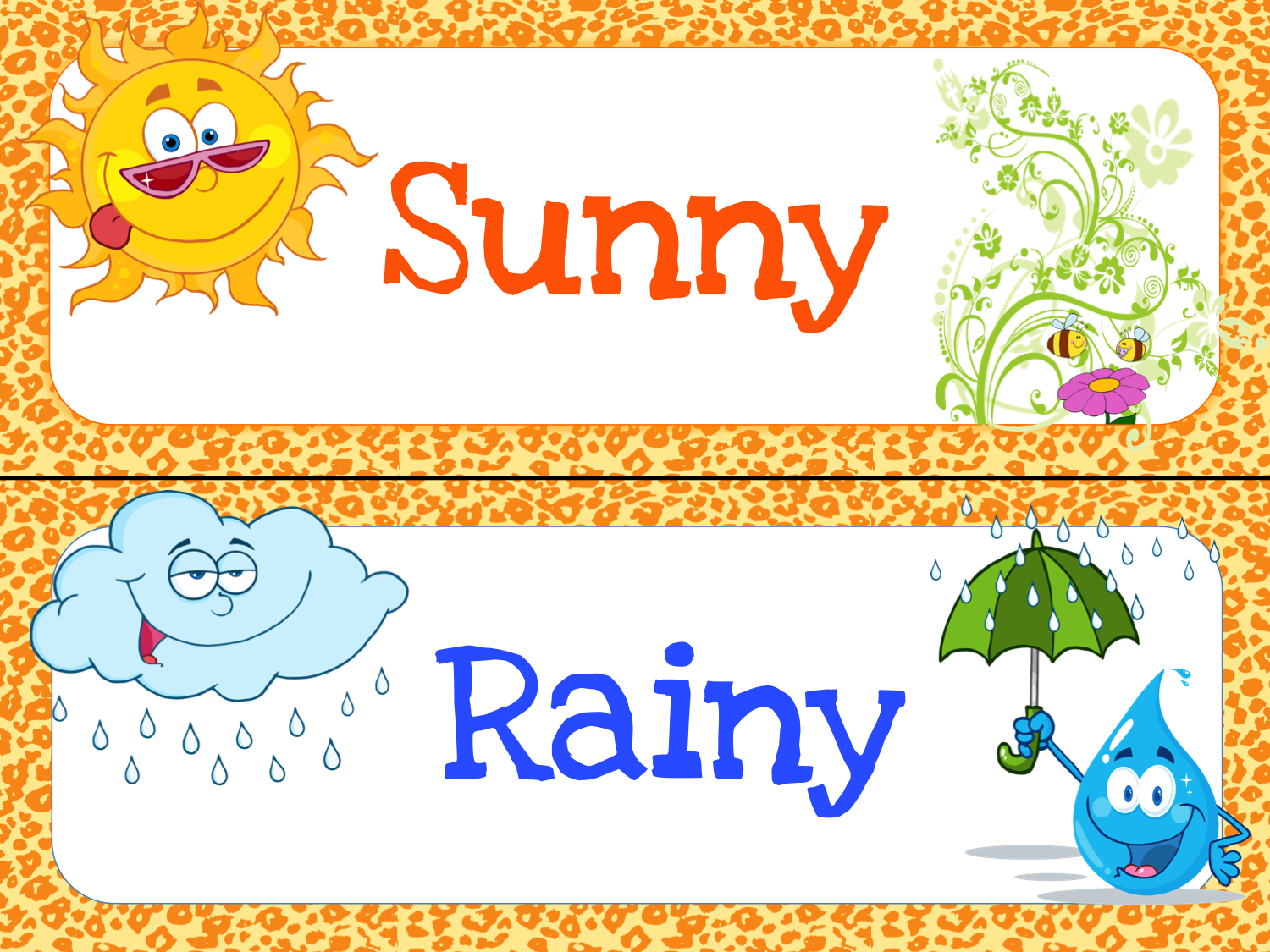 6 Images of Classroom Weather Chart Printable