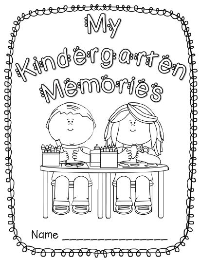 Kindergarten Memory Book Cover Ideas : Best images of kindergarten memory book printables