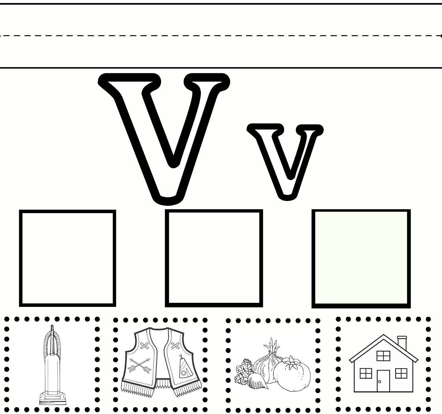 4 Images of Free Printable Letter V Worksheets