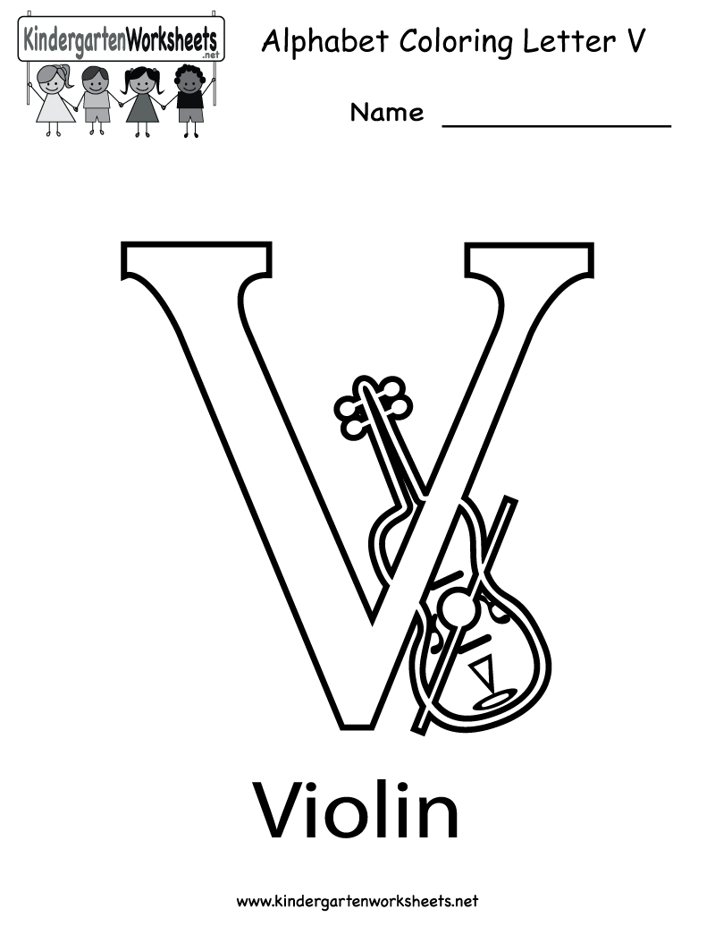 Letter v coloring pages for kids - Classic Letter V Coloring Page Free Printable Pages Click The To View Printable