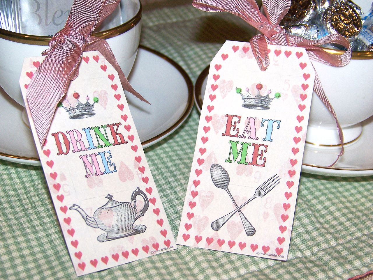 8 Images of Free Printable Mad Hatter Tags