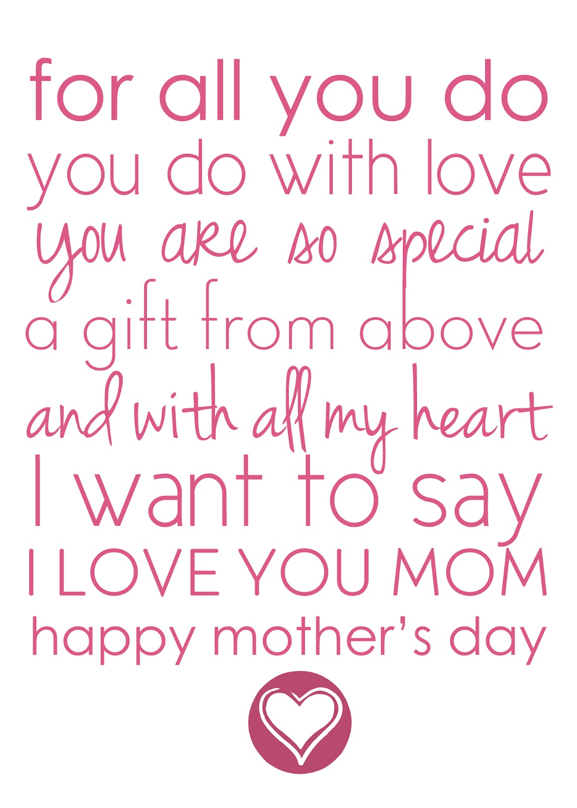 6 Images of Free Printable Mother's Day Poems