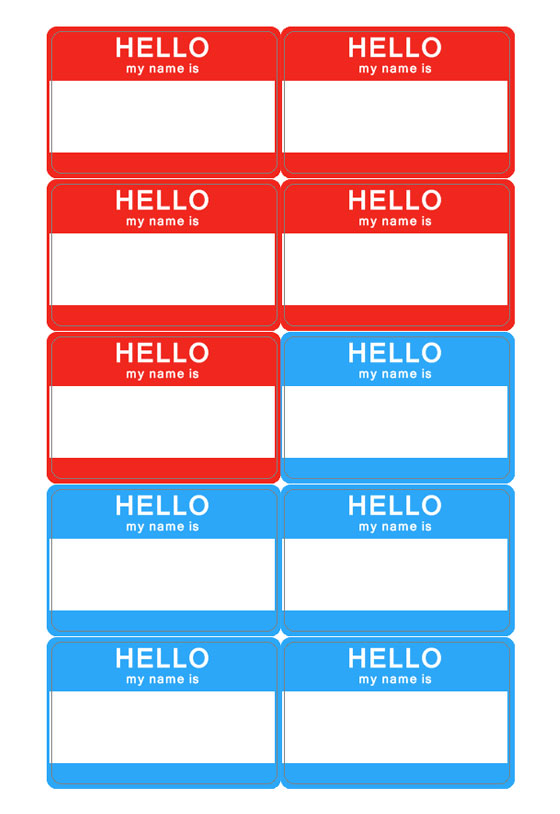 7 best images of free printable name tag templates for for Name badges templates microsoft word