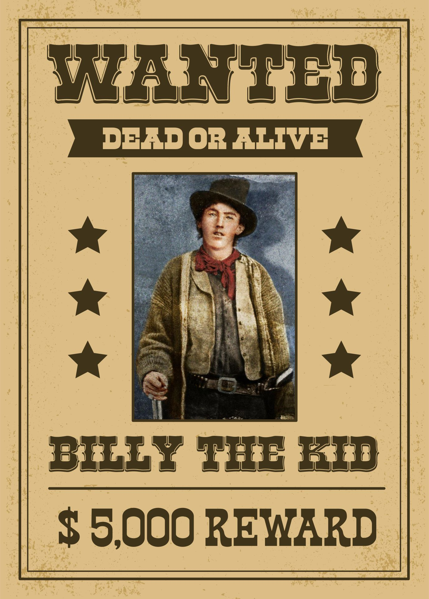Old West Wanted Poster Billy the Kid