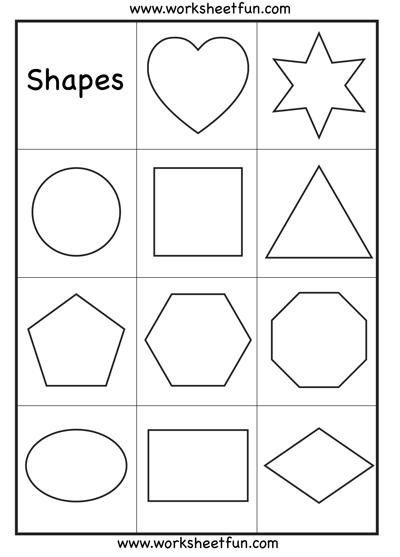 6 Best Images of Basic Shapes Printables - Basic Geometric ...