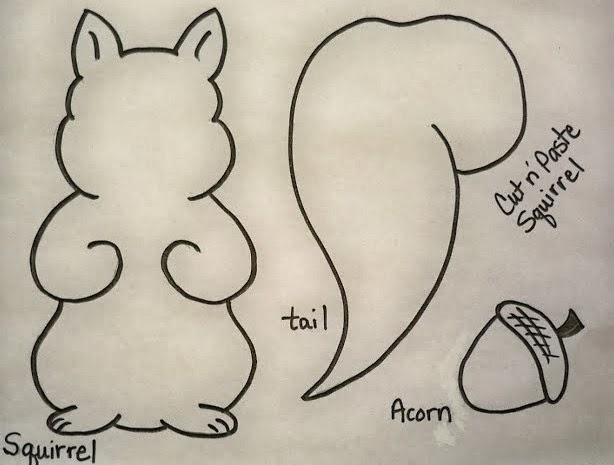 Preschool Squirrel Craft Template