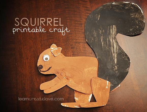 Preschool Squirrel Craft