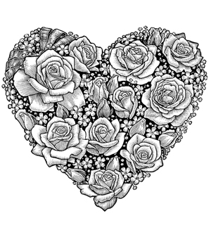 6 Images of Free Printable Adult Coloring Pages Hearts