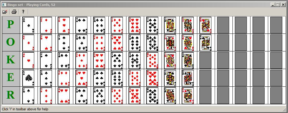 5 Images of Original Bingo Cards Printable