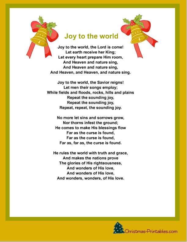 5 Images of Printable Christmas Carols With Words