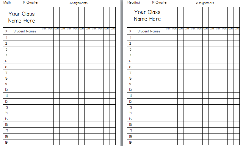 6 Images of Free Printable Grade Sheet Template