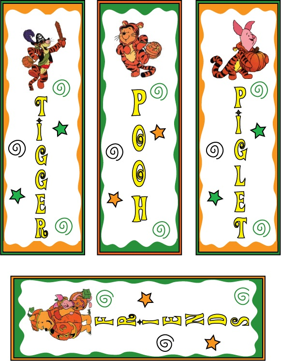 4 Images of Disney Printable Bookmarks Template