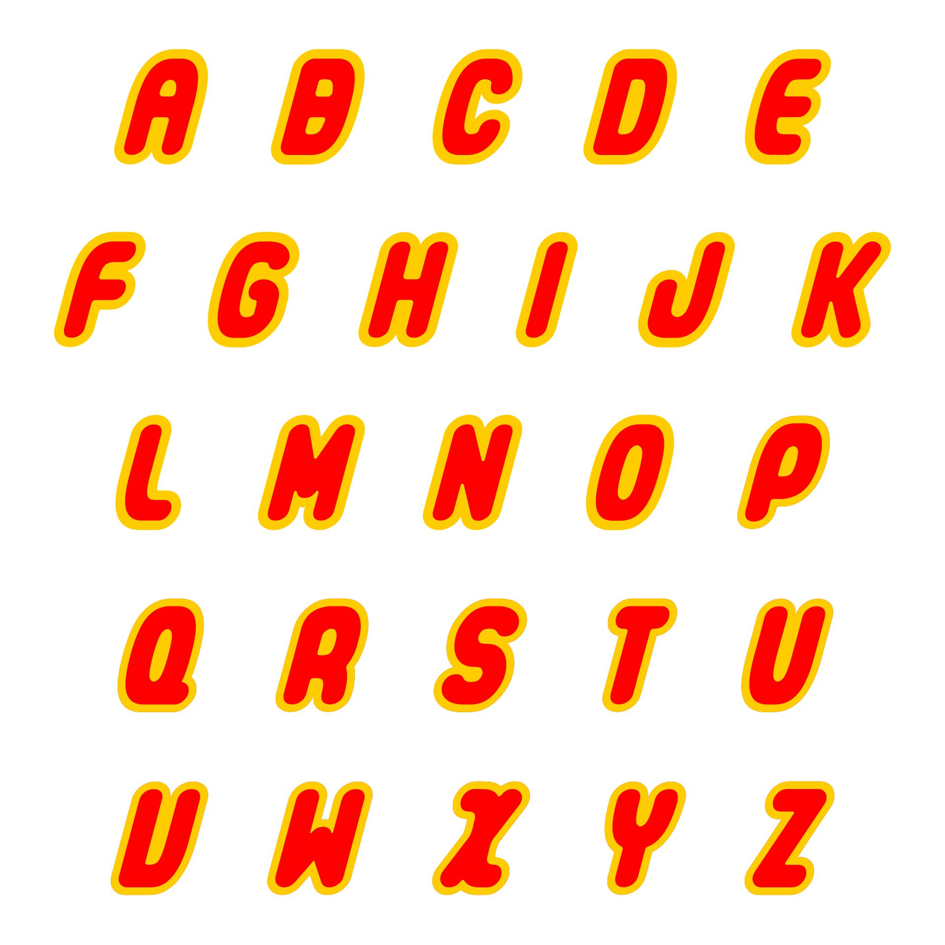 Printable LEGO Letters Font