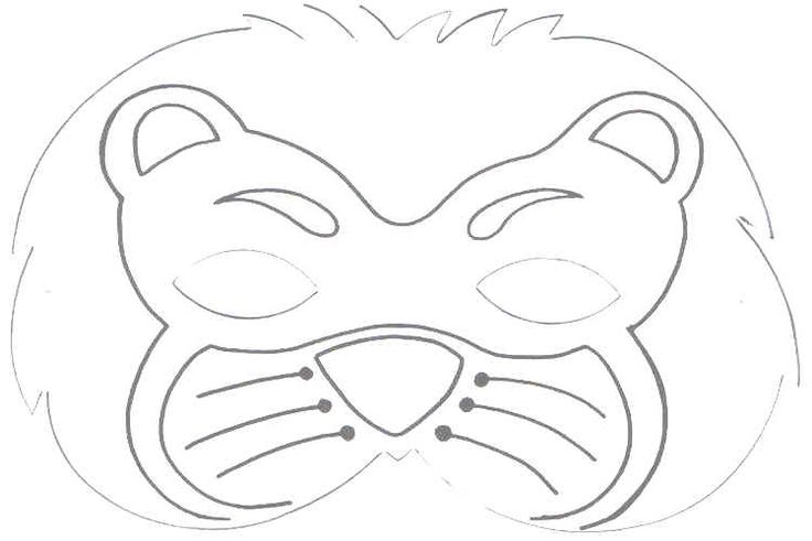 Monster image within printable lion masks