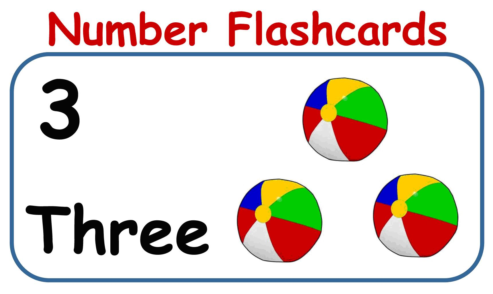 Cards 1-30 - Printable Number Flash Card 1, Printable Number Cards 1 ...