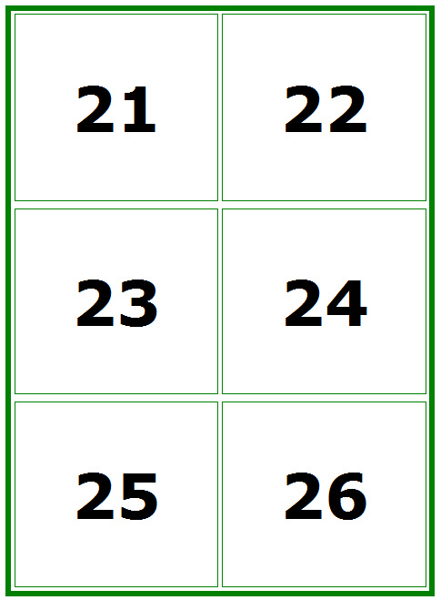 5 Best Images of Large Printable Numbers 1 100 Cards ...