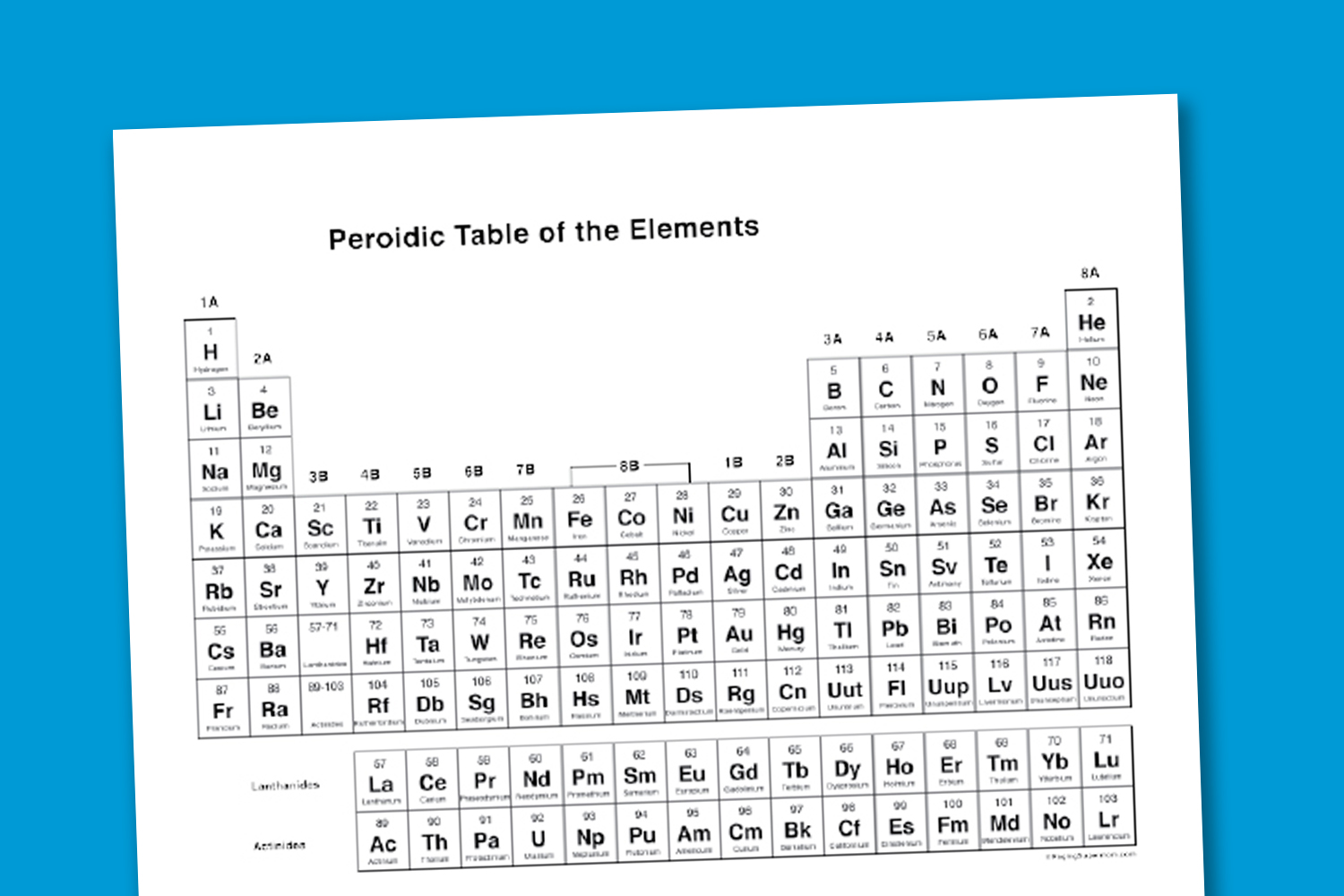 5 Images of Best Periodic Table Printable