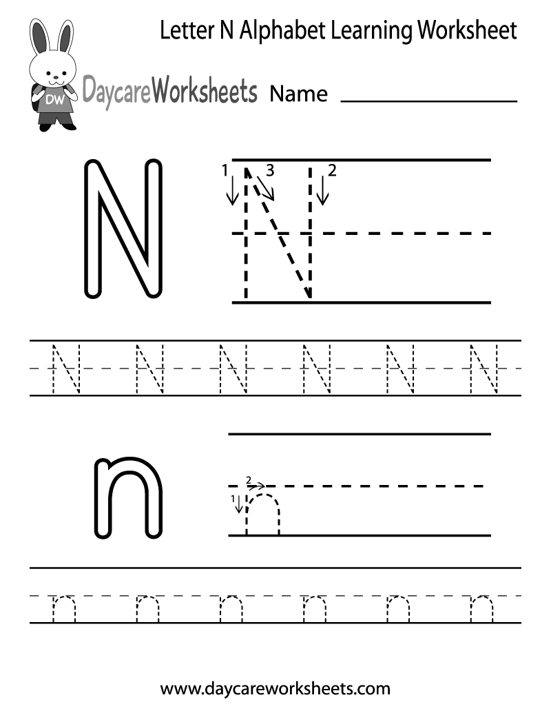 6 Images of Printable Preschool Alphabet Letter Worksheets