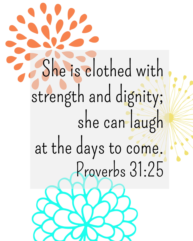 Printable Proverbs 31 Scripture