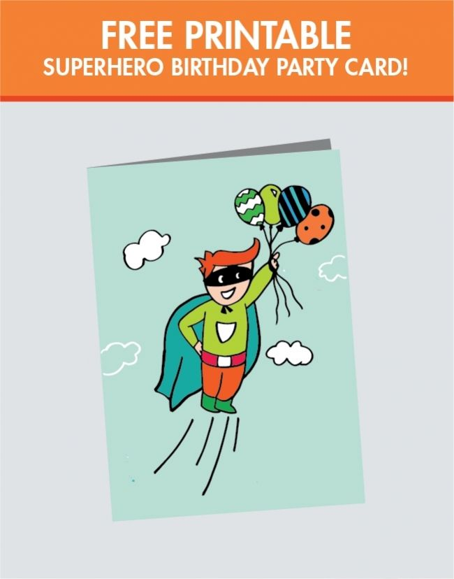 7 Images of Free Superhero Printable Birthday Cards