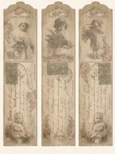 9 Images of Blank Printable Vintage Bookmarks