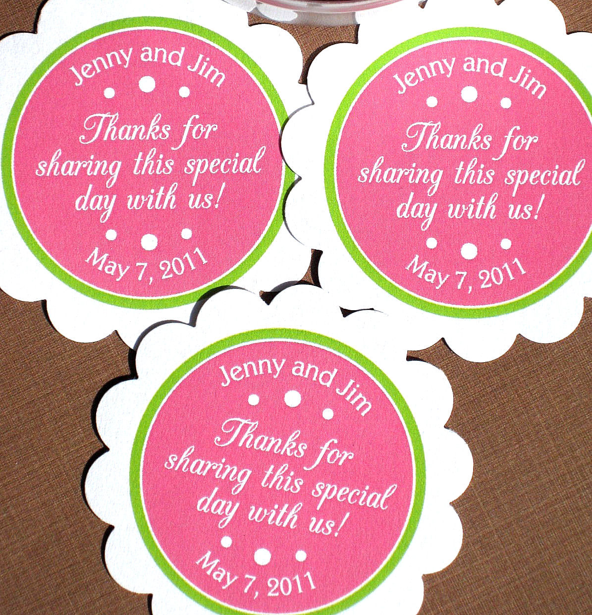 6 Images of Printable Favor Labels