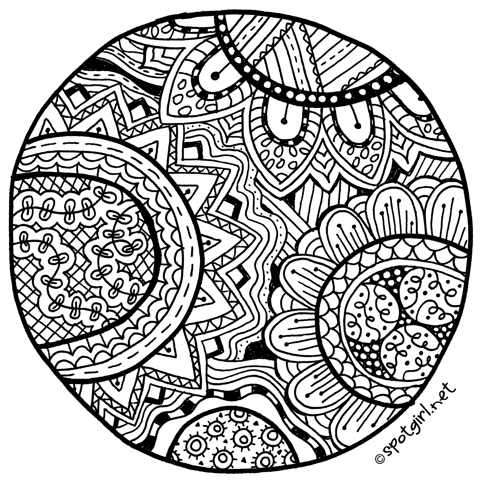 4 Images of Zentangles Patterns Free Printables