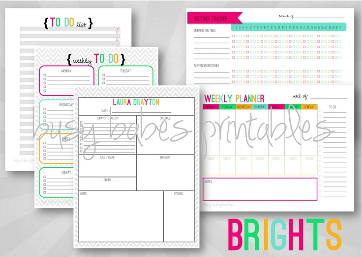 8 Images of Do Lists Daily Planners Printables
