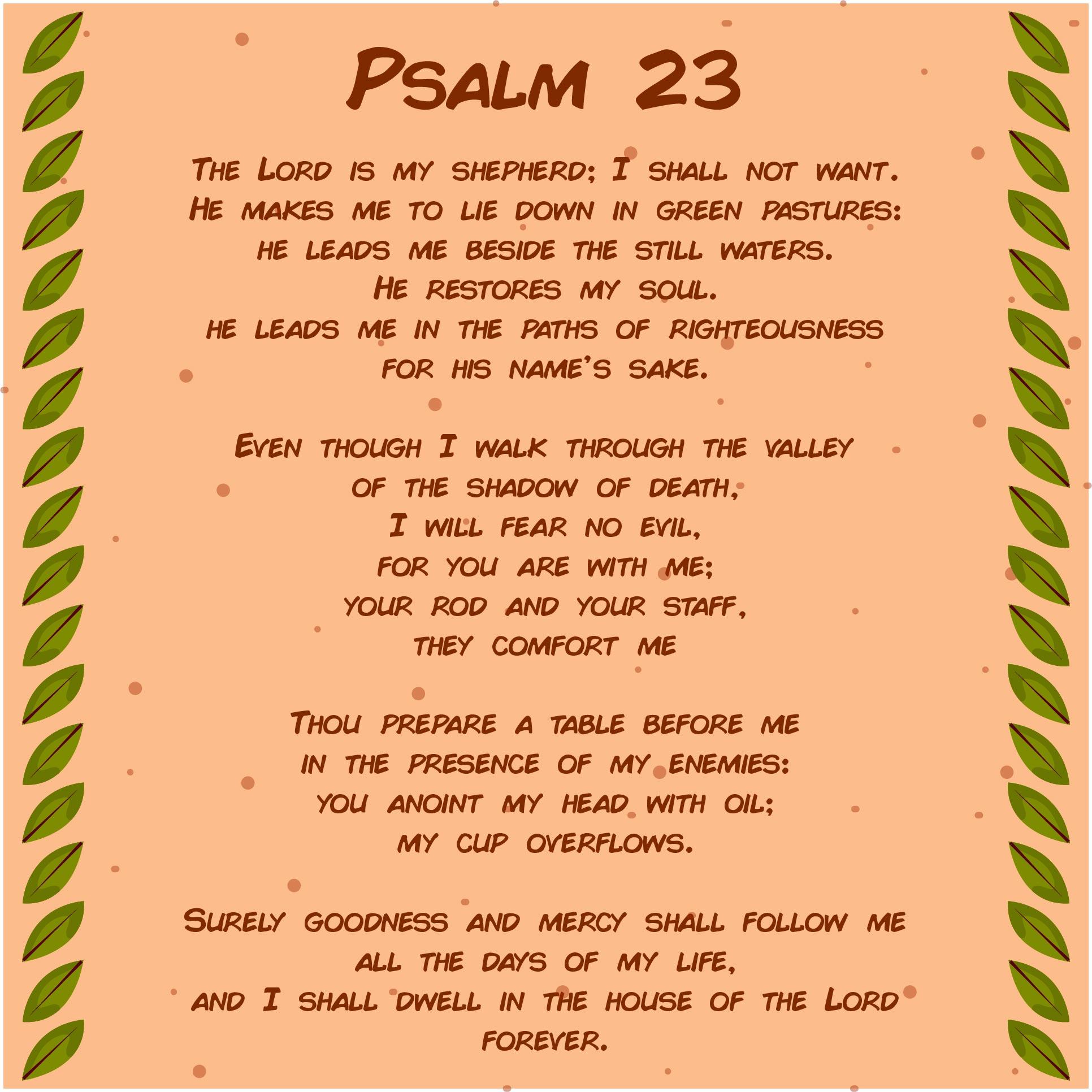 Psalm 23 NIV Printable