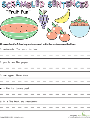 6 Images of Printable Grammar Worksheets Sentences