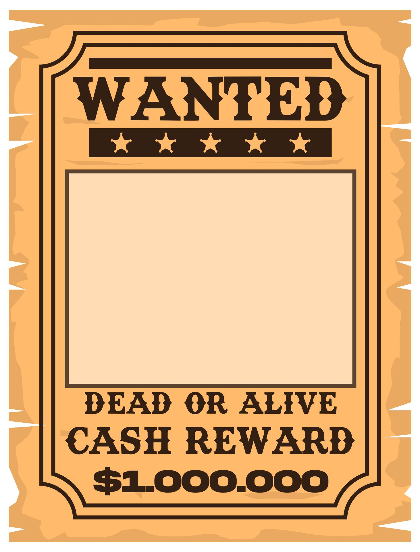 Vintage Old West Wanted Poster Template