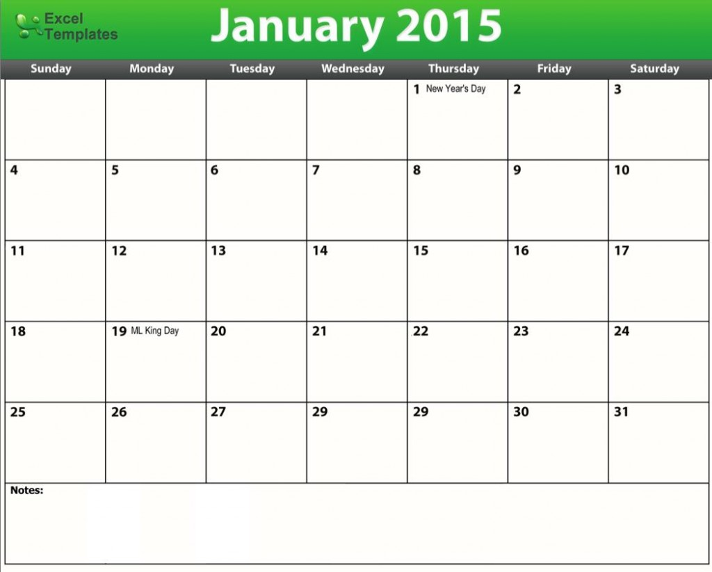 4 Images of Printable 2015 Calendar Template