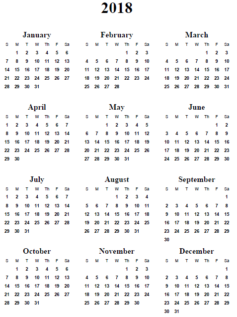 Year Long Calendar : Best images of word year calendar printable
