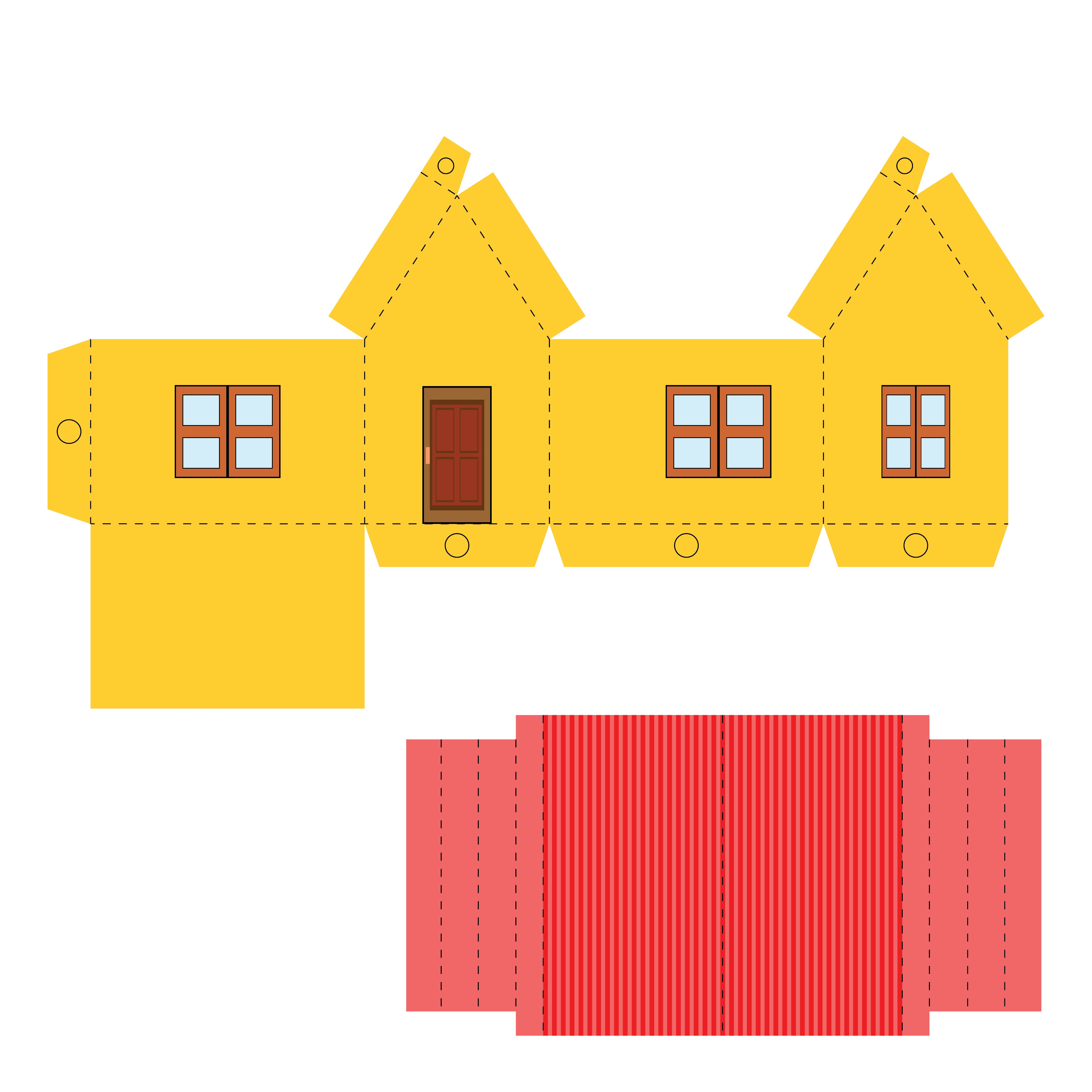 3D House Templates Printable