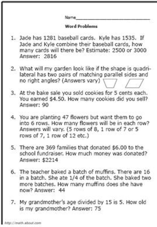 Worksheet 604780 2nd Grade Math Word Problems Worksheets 2nd – 9th Grade Math Worksheets and Answers