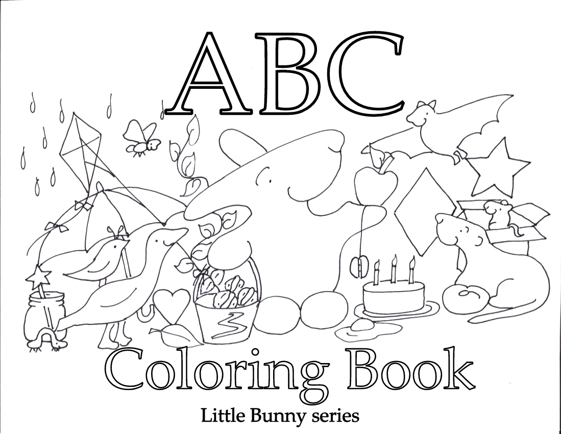 Alphabet Book Cover Printable : Best images of printable abc coloring book cover