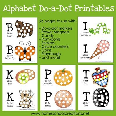 6 Images of Do-A-Dot Printables Alphabet