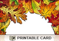 6 Images of Autumn Printable 3D Cards