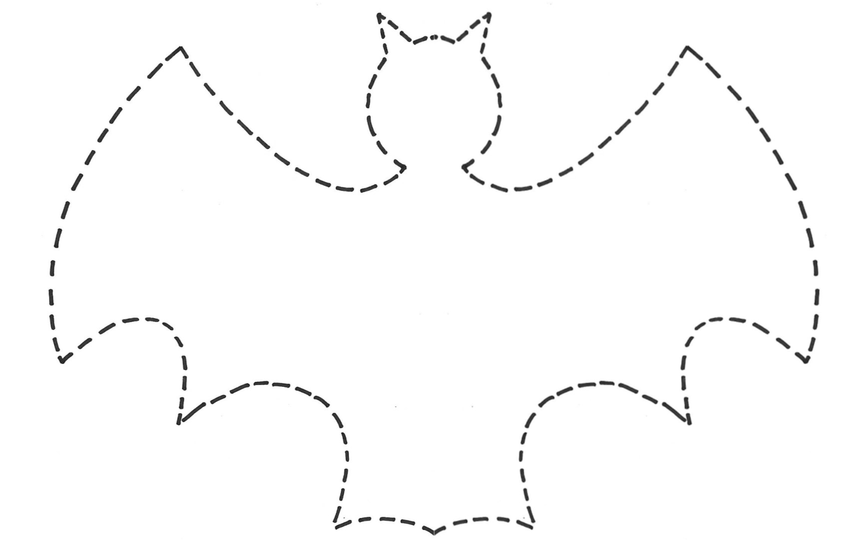 6 Images of Free Printable Bat Template