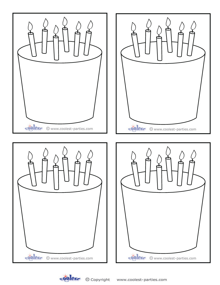 Birthday Cake Blank Template