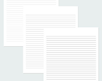 4 Images of Black And White Printable Lined Stationery Paper