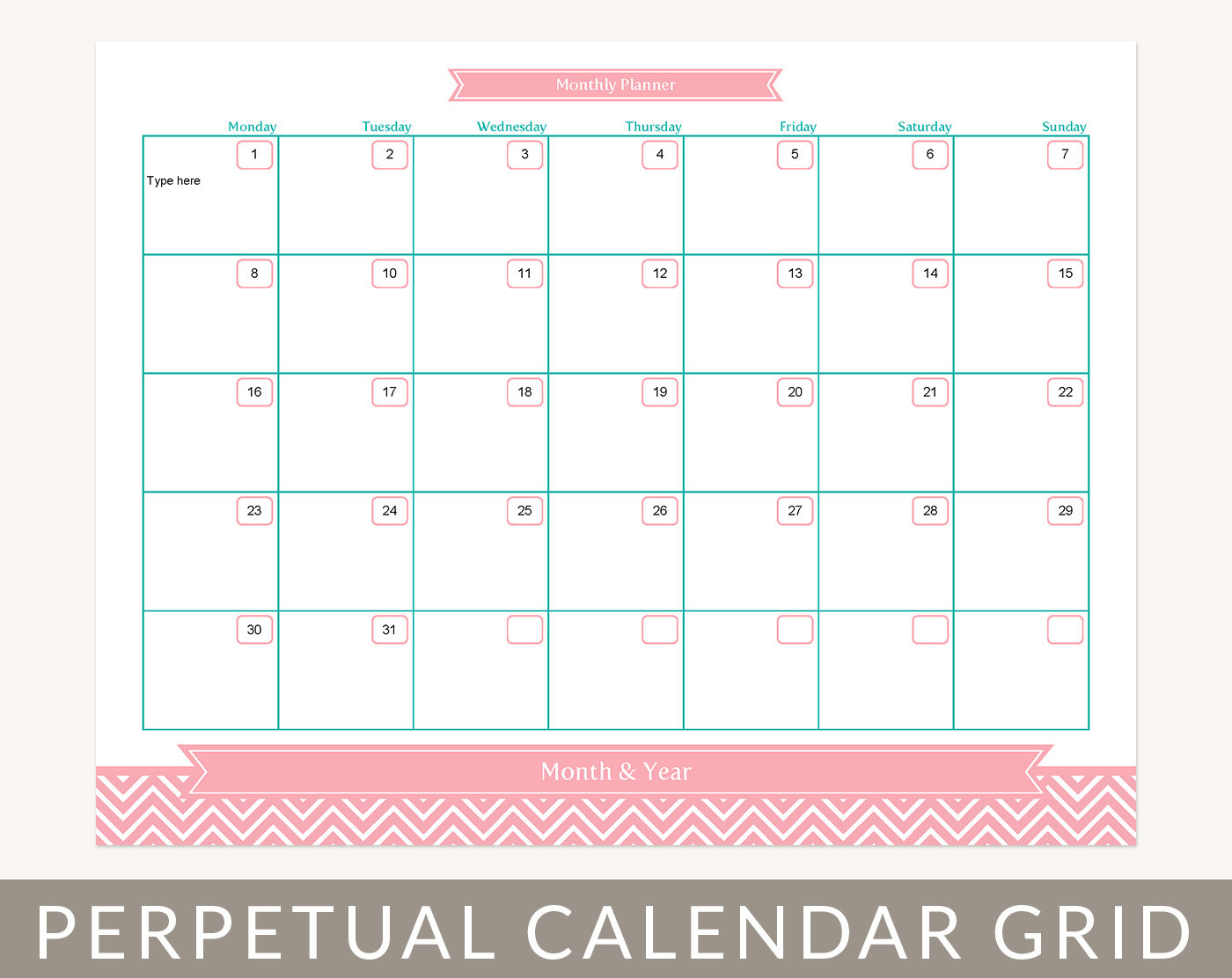 7 best images of month at a glance printable blank month for Month at a glance blank calendar template
