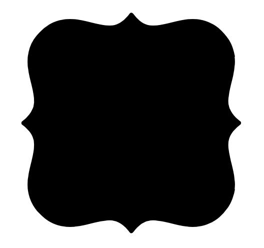 Bracket label shape templates