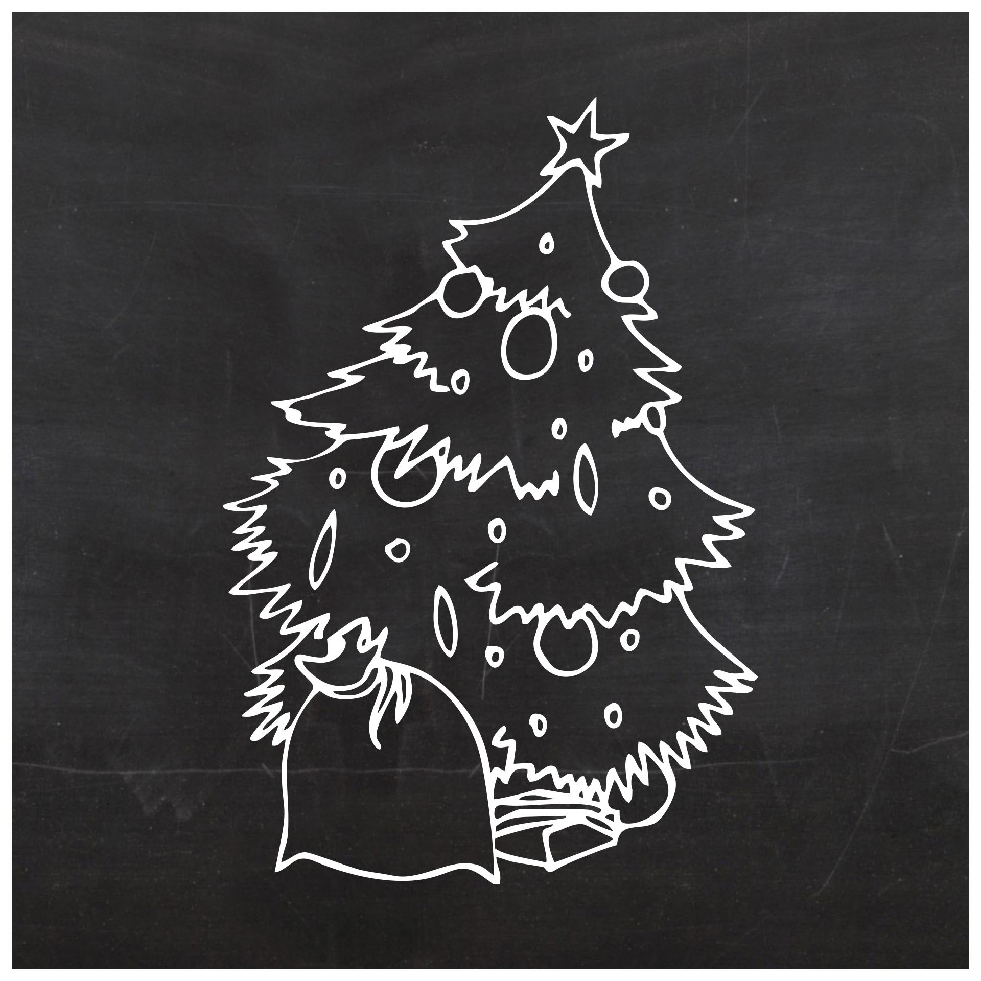 5 Images of Printable Chalkboard Christmas Tree