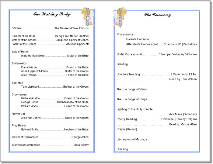 5 Images of Free Printable Wedding Program Templates