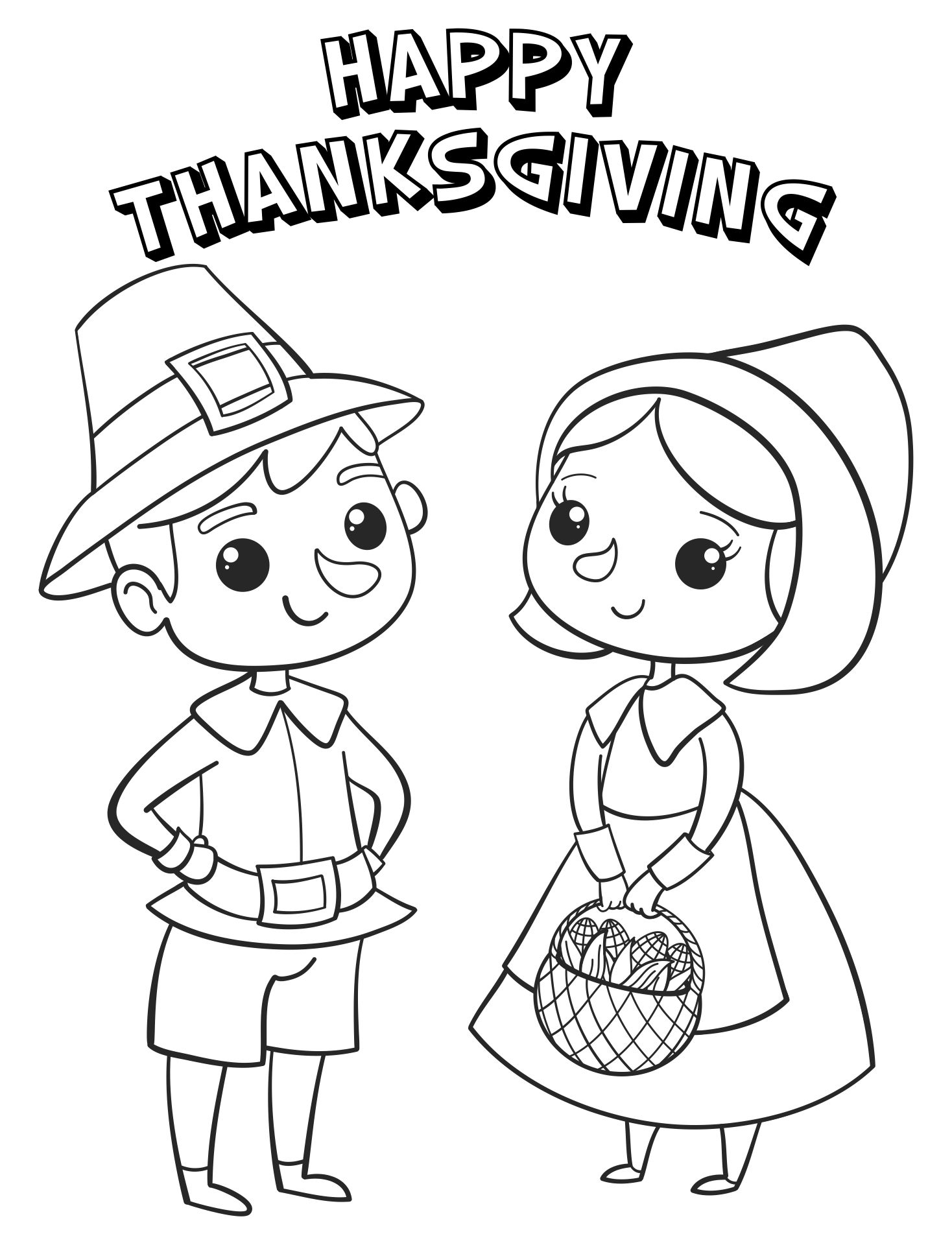 Coloring Pages Thanksgiving Feast Printable For Girls & Boys